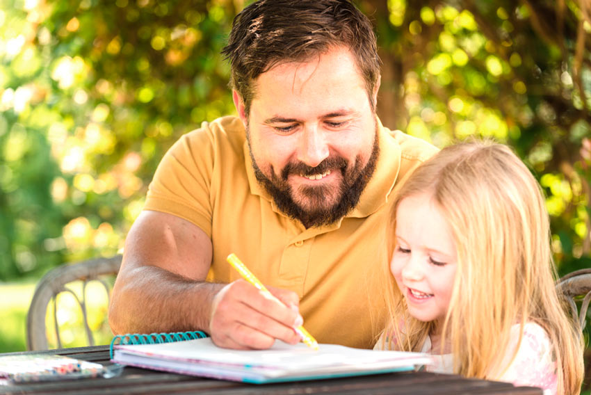 padre hija deberes